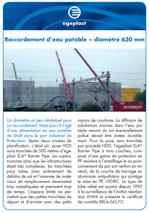 Projet_preview_Raccordement d´eau potable - diametre 630 mm