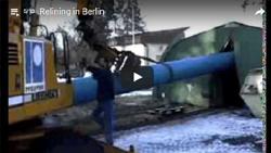 Relining einer Haupttransportleitung aus Stahl DN 700 mit egeplast SLM 630 x 37,4 mm, PN 10 für die Berliner Wasserbetriebe