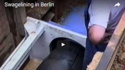 PE-Reduktionsverfahren in Berlin: Sanierung einer DN 1000 Abwasserdruckrohrleitung mit egeplast-Rohren der Abmessung 1030 x 60,6 mm