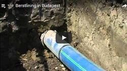 Sanierung einer GFK Leitung: über 572 m im Berstlining-Verfahren mit egeplast SLM®RCplus-Trinkwasserrohren der Abmessung OD 630 mm für die Budapester Wasserwerke AG