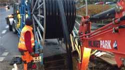 Trinkwasser – Krefeld – egeLiner®: Renovierung einer ca. 250 m langen Trinkwasserleitung aus Stahl DN 200 mit dem egeLiner®