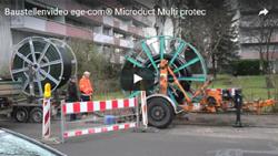 Kabelschutz – Deutsche Telekom – Microduct Multi protec: Verlegung des Microduct Multi protec Rohres im Spülbohrverfahren