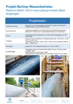 Rekord in Berlin: 724 m neue Leitung in einem Stück eingezogen