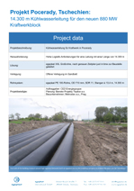 14,300 m cooling pipeline for the new 880 MW power station block
