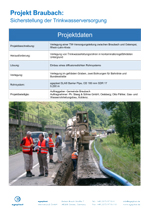 Installation of a drinking water supply pipeline between Braubach and Osterspai, Rhein-Lahn District