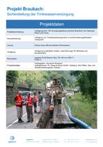 Verlegung einer TW-Versorgungsleitung zwischen Braubach und Osterspai, Rhein-Lahn-Kreis
