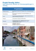 Aber bitte pronto: Neubau von Versorgungsleitungen in Venedig