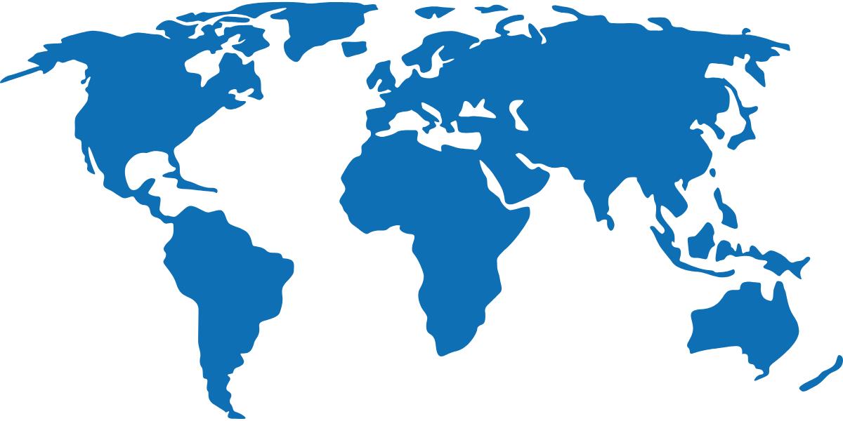 Weltkarte Internationaler Kontakt