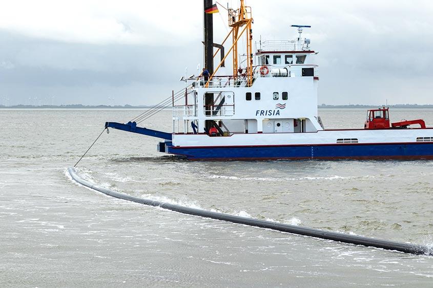 BorWin5: Power Protect PE-RT wurde für das Kabelschutzsystem für eine 320 kV HGÜ eingesetzt. Auftraggeber: TenneT TSO GmbH
