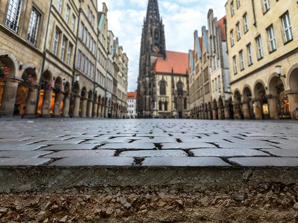 Pedestrian Zone and surface in Münster