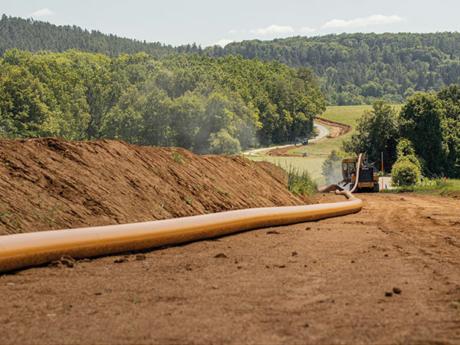 Lange Strecken bei Verlegung der Gasleitung