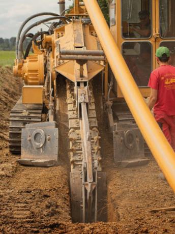 Grabenlose Verlegung der Hochdruckgasleitung