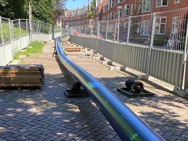 Insgesamt 204 Meter SLA® Barrier Pipe wurden mittels HDD-Verfahren verlegt – mitten in der Innenstadt Groningens.