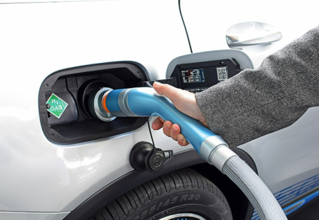 Wasserstoff Tankvorgang Auto