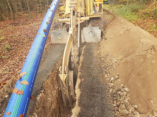 SLM DCS in Lichtenfels: teilweise wurde das Rohrsystem im Fräsverfahren verlegt.